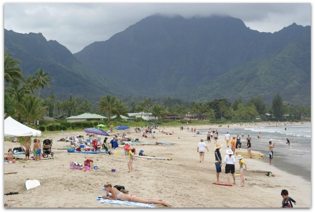 Hanalei Bay Beach Kauai, Hawaii